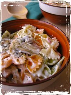 Pasta amb mascarpone i bacó
