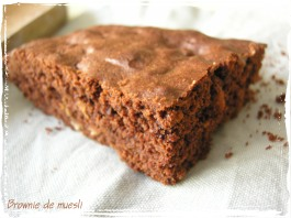 brownie de muesli